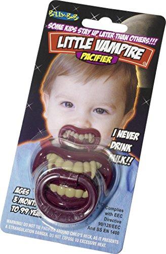 Party Kostüm Großbritannien - Smiffys Billy Bob Pacifiers 90076 Kleine Vampiren lustige Schnuller