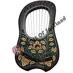 Gravur Lyra Harp10Metall-saitenlyra Harfe + Kostenloser Tragetasche, Stimmschlüsselharfe
