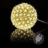 100er LED Lichterball Leuchtfarbe warm weiß Ø 15 cm Lichterkugel weißes Kabel Weihnachtsbeleuchtung Weihnachtsdeko Leuchtball Xmas
