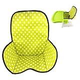Baby Hochstuhl Sitzbezüge & Kissen Schutzfolie Atmungsaktive Wasserdichte Hochstuhl Pad (Grüner Punkt)