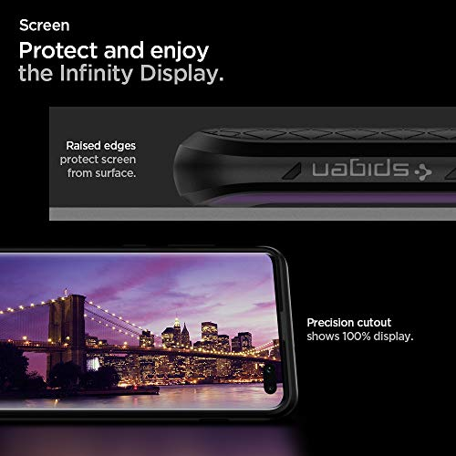Spigen Liquid Air, Cover Galaxy S10+, Custodia Protettiva in TPU per Galaxy S10 Plus, Massima Protezione da Cadute e Urti - Matte Black
