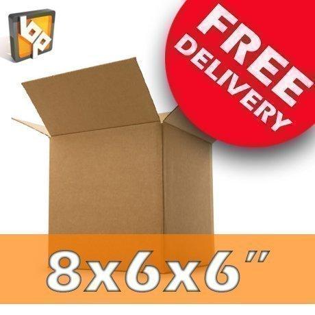 50 boîtes d'emballage en carton taille M - 20,3 x 15,2 x 15,2 cm
