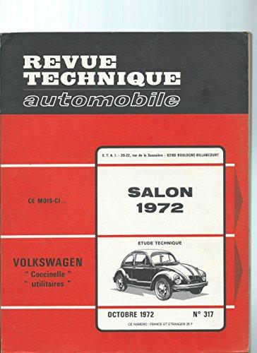 Revue Technique automobile N° 317 Volkswagen Coccinelle et utilitaires 68 72
