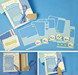Photo Album - baby album - Es ist ein Junge - Baby Junge - Foto Buch des ersten Lebensjahres Ihres Kindes, ganz von Hand mit der Technik des Scrapbooking erstellt.