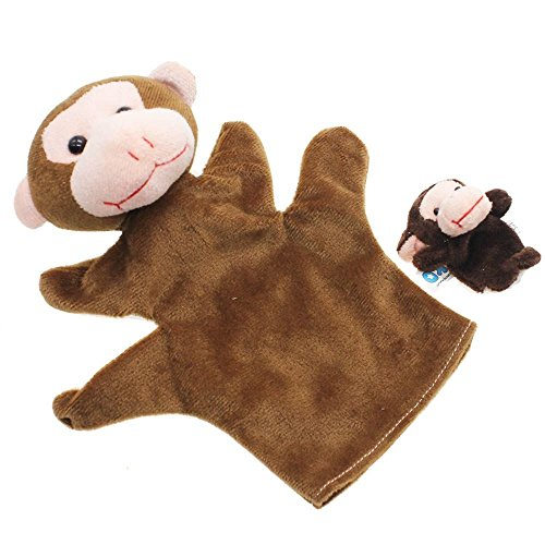 VANKER marioneta del dedo de la felpa de mano Modelo de los juguetes 2 piezas (1 grande + 1 pequeña)--esperar