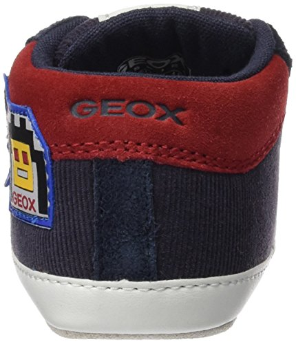 Geox Baby Jungen B Ian C Krabbelschuhe Blau (Navy/Redc0735)