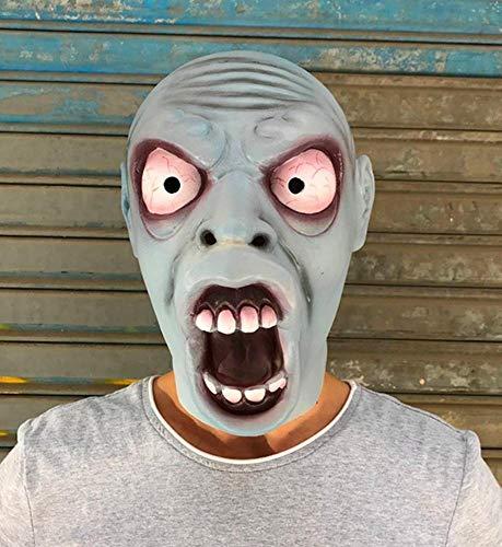 Littlefairy Masken für Erwachsene,Horror Alien Maske Perücke hochwertige Latex Perücke Halloween gruselig Sackgasse festlegen