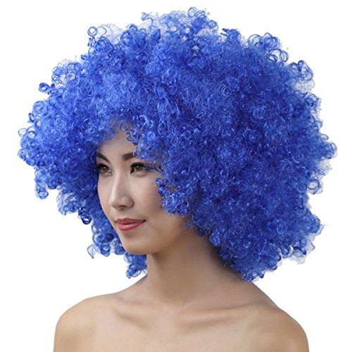 Cheerlife Perücke Clown Perücke Halloween Fasching Karneval Locken Hair Bunt Explosion des Kopfes hochwertige Cosplay Perücke Blau