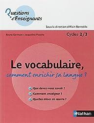Le vocabulaire, comment enrichir sa langue ?