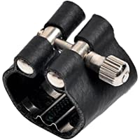 Ligadura sujetadora de alta calidad para boquilla de clarinete Bb, color negro