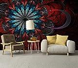 BHXINGMU Benutzerdefinierte Fototapete Abstrakt Floral Muster Schlafzimmer Ktv Bar Hintergrund Wandbild Tapete Wohnkultur 50Cm(H)×90Cm(W)