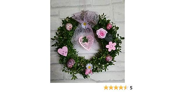 Buchsbaum Türkranz  Blüten /& Schnecken in rosa Shabbychic romantisch in 3Größen