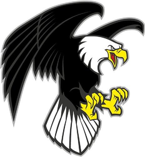Cartoon Angry Eagle Mascot Wild Bird Hochwertigen Auto-Autoaufkleber 12 x 12 cm (Angry Bird-auto-aufkleber)