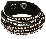 Swarovski Damen-Armband Leder Glas mehrfarbig 36 cm - 5089699