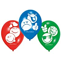 6Smiley Balloons for Childrens Birthday Parties Birthday Party Decoration Party Balloons Emoji