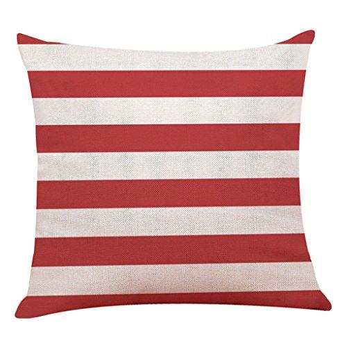 Vovotrade Zuhause Dekor Kissen Abdeckung rot Gedruckt Geometrisch Werfen Kissenbezug Kissen Abdeckungen (E) (Gedruckt Dekorative Kissen)