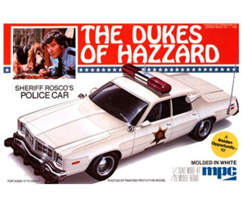 The Dukes Of Hazzard Sheriff Rosco'S Police Car Plastic Model Kit 1:25