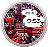 LL Wanduhr Deadpool Design ca. 20 cm Durchmesser mit lautlosem Uhrwerk Unisex Kinderzimmer Büro Arbeitszimmer Motiv 2