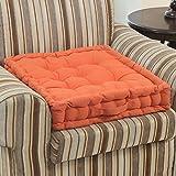 Homescapes extrahohes Sitzkissen orthopädisch mit Tragegriff Sitzerhöhung Aufstehhilfe ca. 50 x 50 x 10 cm, Bezug aus Baumwolle, 100% Polyester Füllung, uni terracotta
