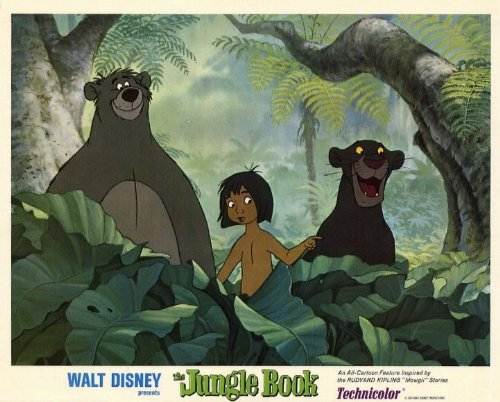 Image of The Jungle Book Poster Movie 11 x 14 In - 28cm x 36cm Phil Harris Sebastian Cabot Louis Prima George Sanders Sterling Holloway J. Pat O'Malley