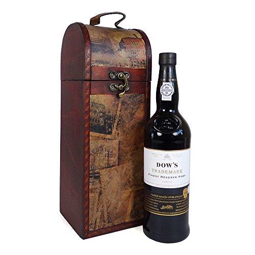 Dow's Trademark's Finest Reserve Port Vino rosso in elegante legno Carrier - Idea regalo di compleanno, Anniversario, Grazie, Festa della mamma, Festa del papà, Fidanzamento