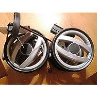 PEG PEREGO doble rueda trasera negro gris solo para Peg Perego Switch