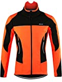 Lakaka-EU MTB Jacke Herren Wasserdicht Atmungsaktiv Fleece Warm Langarm Radsport Jacke Winddicht Herbst Winter Fahrrad Regenjacke