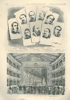 """Articoli e quattro incisioni xilografiche, in fasc. completo del 1876 de """"L'Illustrazione italiana""""."""
