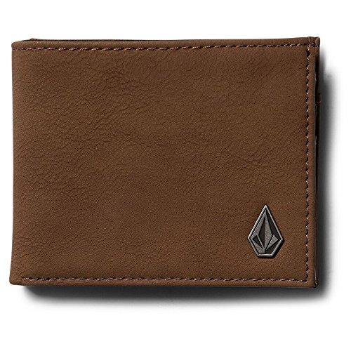 Volcom Herren Geldbeutel Slimstone Wallet, Mocha, One Size, D6041479MOC (Brieftasche Hipster Klassische)