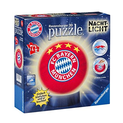 3D Puzzle Nachtlicht FC Bayern MÜNCHEN FCB + gratis Sticker