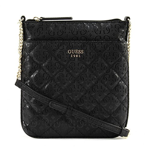 Guess Seraphina Mini Crossbody Top Zip SG685570 Damen Umhängetasche 19x22x1cm black (Mini Mini Top Tasche Zip)