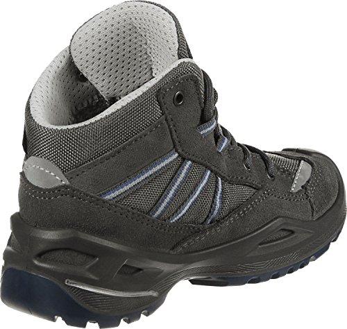 Lowa Simon Ii Gtx Qc, Chaussures de Randonnée Basses Mixte Enfant Grigio (Anthrazit/Blau Anthracite/Blue)
