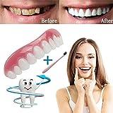 TAOtTAO Comfort Fit Flex Kosmetik Zähne Prothese Zähne Top Kosmetik + Zahnbürste