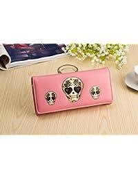 philna12calavera impresión monedero tarjeta de Crédito Bolso de mano (rosa)