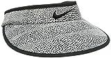 Nike Big Bill Zebra Print Visor Casquette de golf pour femme, Noir (Black / Anthracite / Black), taille unique