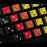 Deutsch Lernen Große und kleine Buchstaben Multicolore Tastaturaufkleber - passend für jede Tastatur