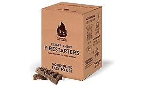 FireBuilder Accendifuoco Ecologico per focolari a Legna, fuochi all'Aperto e Barbecue. Non Sono necessari legnetti o giornali arrotolati. Senza Fumo e inodore.