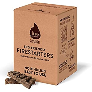 Natural Firelighters For Wood Burners and Open Fires. No Kindling or Wrapped Up Newspaper Required. Smokeless and Odorless. Up to 10 Fires.