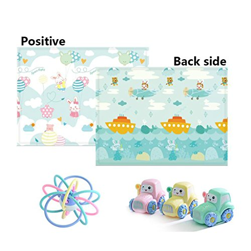 ZX Baby Faltbare Kleinkind Crawling Mat Verdickung Wohnzimmer Home Foam Mat Kinder Spielmatte Dekorative Accessoires (Farbe : B) (76 Serie Halterung)