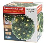 PartyFunLights Boxwood ball 20 LED, 26,5 cm 51699