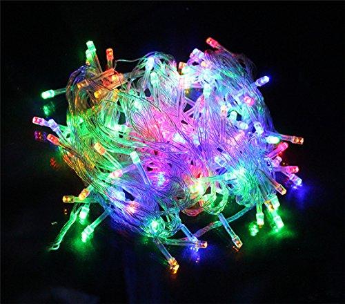 Happyit 4 M 40 LED Waterproof String Lights Xmas Holiday light Lampes décorées à l'extérieur pour fête Mariage Jardin Fée de Noël (Multicolore)