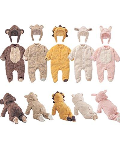 Book's Cover of Kidsform Manches Longues Dors Bien Grenouillère Adorable Bébé Unisexe Combinaison Ensembles Avec Chapeaux