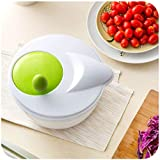 ZEMER Multifunktionshandbuch Salatschleuder Gemüse Trockner Trocknen Sie Den Schnellfilter Ab Kopfsalat-Spinner Mit Sieb Und Geschirrspüler Safe Bowl