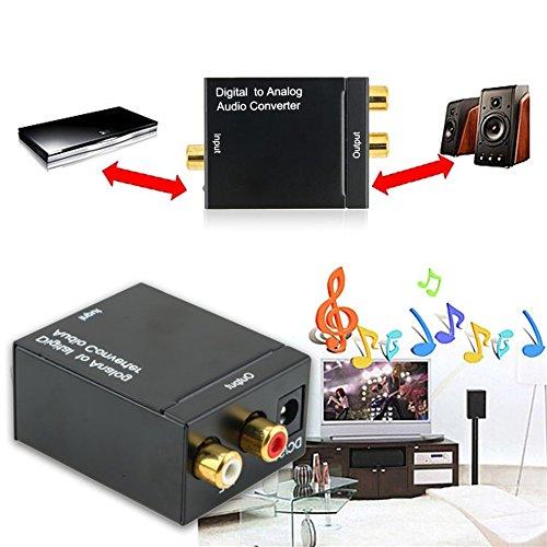Digital Optical Koaxial Toslink Signal zu Analog Audio Konverter Adapter RCA