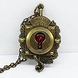 Fantastic Beasts (Fantastische Tierwesen) Das Kofferschloß Anhänger (Muggle Worthy) mit Halskette bronzeantikfarben