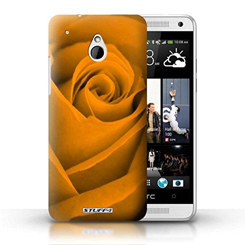 Kobalt® Imprimé Etui / Coque pour HTC One/1 Mini / Rose conception / Série Rose Orange