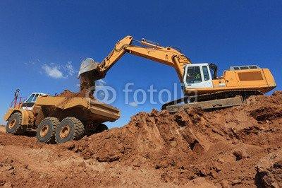 alu-dibond-bild-140-x-90-cm-engins-de-chantier-en-action-bild-auf-alu-dibond