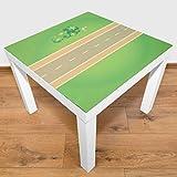 Playmatt Spielmatte für Tisch oder Boden Straße gerade, schadstofffrei, rutschfest, waschbar, 55 x 55 cm, passt perfekt auf IKEA Lack Tisch