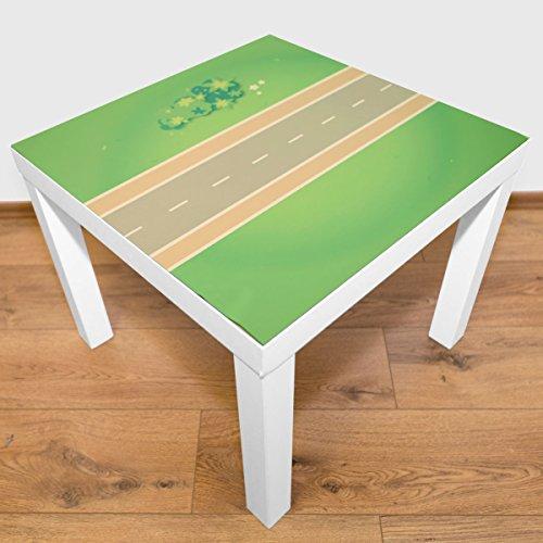 Playmatt Spielmatte für Tisch oder Boden Straße gerade, schadstofffrei, rutschfest, waschbar, 55 x...