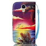 Meet de Samsung Galaxy S4 GT-i9505 Bookstyle Étui Housse étui coque Case Cover smart flip cuir Case à rabat pour Galaxy S4 GT-i9505 Coque de protection Portefeuille - Hawaii